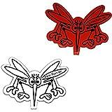 Türen Magnet Durchlaufschutz für Mückenschutztür Mückenschutzgitter Mückennetz auch als Aufkleber - Folien Ersatz ähnlich wie Folie auch gegen Vogel Flug (Weiß - Rot)