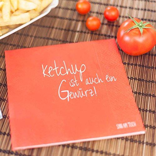 Sinnwert Servietten Ketchup ist auch ein Gewürz 20 Stk.