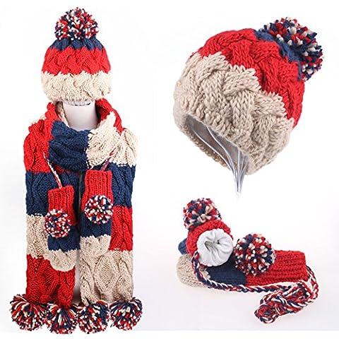 qwer Natale regalo di compleanno inverno lovely ragazze maglieria colorata