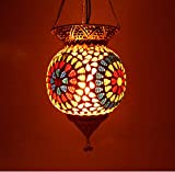 Susajjit Splendid Decoration Item Hanging Lamp with elegent mosaic work Lantern for Majestic Decoration of your Home