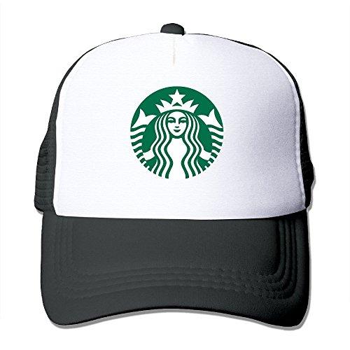 Hittings Starbucks Logo Adjustable Snapback Cap Baseball Hats Black