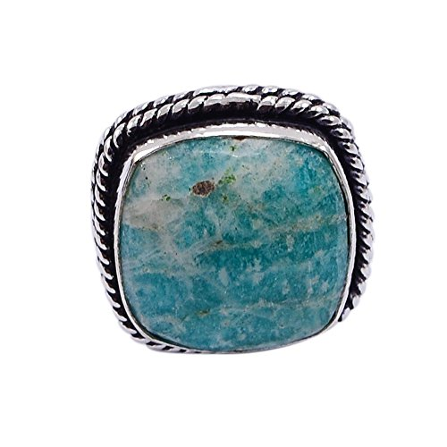 Silvestoo india amazzonite anello sz 8 pg-116398