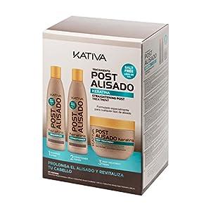 tratamiento de keratina: Kativa, Tratamiento Post Alisado, Champú,  Acondicionador y Tratamiento Profundo