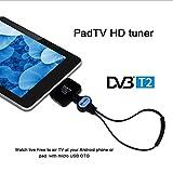 COMPRARE WEB Decoder Digital Terrestrisch Receiver TV DVB-T und T2Micro USB für Smartphone Android Phone/Pad CW185