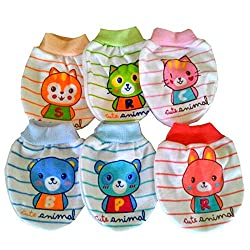 Baby Basics Multicolor Soft Cotton Mittens - pack of 6