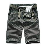 ELECTRI Pantalons pour Hommes Cargo Shorts D'outillage D'été Plein Air Multi-pocke...
