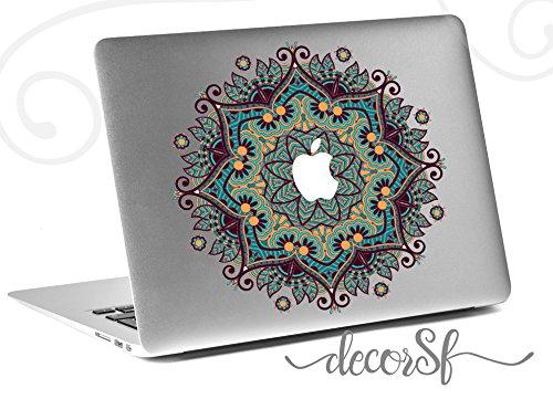 Vinilo decorativo floral de mandala para Macbook