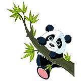 PPS. Imaging Autocollant mural d'escalade Panda, chambre d'enfant, ours, Illustration, Sticker mural, Stickers muraux, tatouages muraux, Stickers muraux, dimensions: 46cm x 40cm