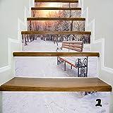 UKBIOLOGY 1 Satz Treppen Aufkleber Wohnkultur Indoor Schmücken Kreative Diy 3d Treppen Wand Fliesenmuster Für Raumtreppen Dekoration Wohnkultur Boden Aufkleber Aufkleber Wandaufkleber (Bunt1)