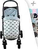 JANABEBE Saco para Baby jogger city mini, Impermeabilizado (RACCOON, POLAR)