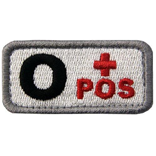 Táctico Tipo O positivo Tipo sangre emblema Broche