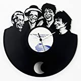 The Rollingstones Disk aus Vinyl originale vintage Uhr mit Pendel