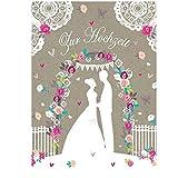 Swarovski Elements Hochzeit Grußkarte Handmade PopShot Zur Hochzeit Brautpaar 21x16cm