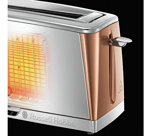 Russell Hobbs Luna Wide Long Slot 2 Slice Toaster 24310 – Copper