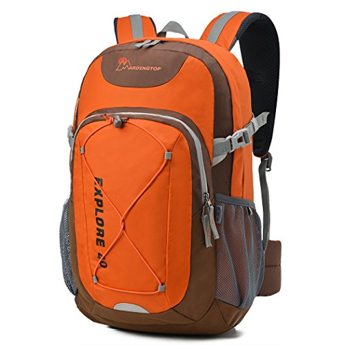 Mountaintop Zaino Trekking Sportivo Outdoor Donna e Uomo per campeggio alpinismo arrampicata Viaggio Bicicletta ad Alta Capacità,Multifunzione, 40 litri (Arancione II)