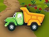 Grüner Lastwagen - Lernen und bauen