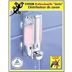Distributeur de savon - Fixation ventouses Gecko