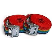 T25 - Cinta trincaje -Trinquetes Profesionales - 2 unidades. Para amarrar cargas ligeras. Longitud 3m. Resistencia rotura real 500 kg (en forma de aro). 027048025920