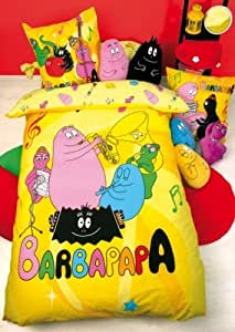 parure lit housse couette barbapapa music 100 coton 1pers cuisine maison. Black Bedroom Furniture Sets. Home Design Ideas