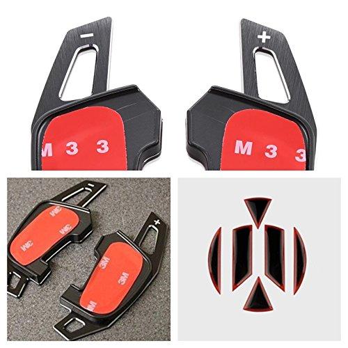Preisvergleich Produktbild FFZ Parts Schaltwippen DSG Paddles Passend Für Golf 7 GTI GTD R Club Sport Scirocco in Schwarz