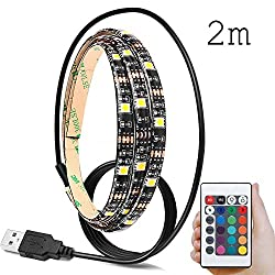 LED Strip,About1988 LED Band 5050 60 SMD M RGB für 40-60 Zoll LED TV Hintergrundbeleuchtung USB LED Streifen mit Fernbedienung (2m)