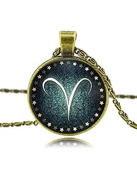 MESE London Widder-Halskette Tierkreiszeichen-Anhänger - Elegante Geschenkbox