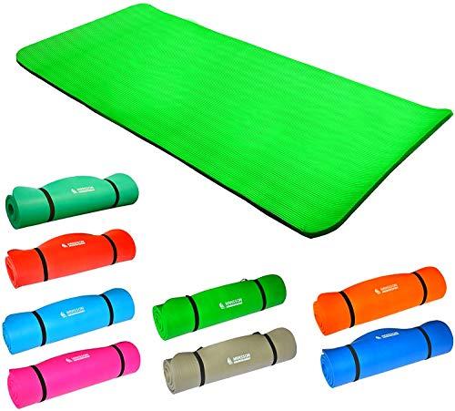 Hansson.Sports NBR Fitness Yoga Pilates Gymnastikmatte 183x80x1,5cm (hellgrün)