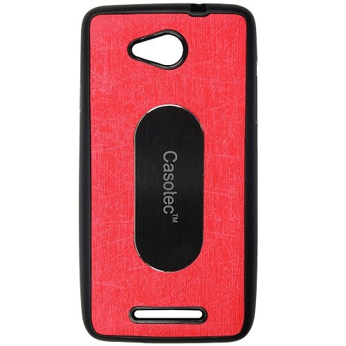 Casotec Metal Back TPU Back Case Cover for Panasonic Eluga A - Red  available at amazon for Rs.175