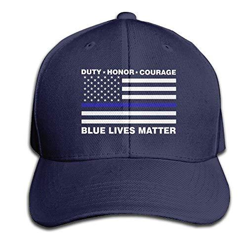 Aeykis Blue Lives Matter Police Blue Line Us Flag Black Snapback Baseball Cap for Adult V003558 -