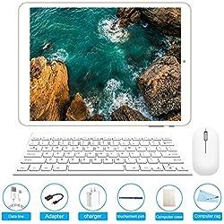 Tablette Tactile 10.1 Pouces Tablette PC Android 7.0 avec Double Slot pour Carte SIM, 3G, Octa Core(Eight), 3 Go de RAM + 32 Go de ROM, Double caméra intégrée, Bluetooth 4.0, Wi-FI et GPS