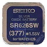 UNA (1) x Seiko 377 SR626SW SB-AW ossido d'ARGENTO Batteria Orologio 1.55V blister confezionati