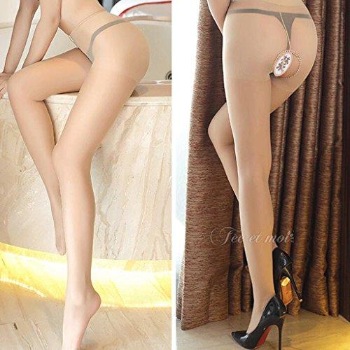 FLH Attraktive Unterwäsche Extrem verlockend Leidenschaftliche Anzug Weibliche Open Crotch Schwarze Strümpfe Adult Uniformen 7305 Erogenous ( Farbe : A ) A