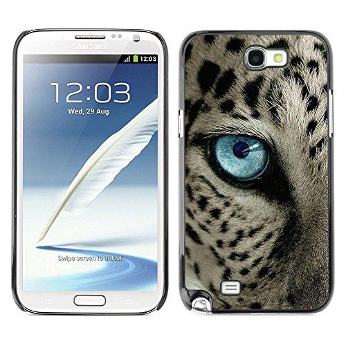 Plastic Shell Protective Case Cover    Samsung Galaxy Note 2 N7100    Black Spots Blue Eye Cat @XPTECH (Samsung Galaxy Stellar Hard Case)