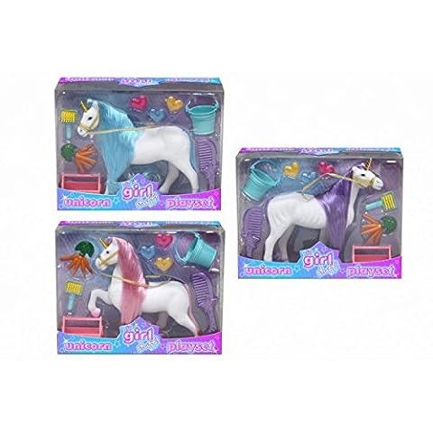 Son Stuff Girl! Unicorn Playset - 16cm Unicorn Avec Accessoires - jouets pour filles