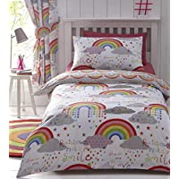 Kids Club Clouds and Rainbows Reversible Duvet Cover