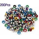 Sonline 200X Remaches Metal Redondo 9mm Colores Tachuelas Studs Bolsa/Calzado/Guante