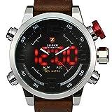ZEIGER Herren-Armbanduhr Analog Quarz Leder W297