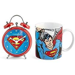 Home Superman Set despertador taza, porcelana, rojo/azul, 2Unidad