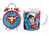 Home DC Comics, Superman Tasse + réveil Rouge/Bleu