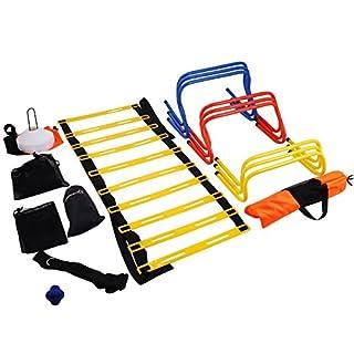 Olibelle Kit D'entraînement De Vitesse échelle De vitesse Football Training Kit Echelle Agilité échelle De Rythme (Kit D'entraînement De Vitesse)