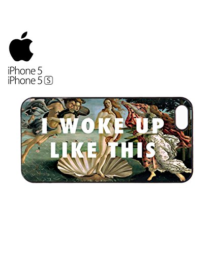 I Woke Up Like This Art Mobile Cell Phone Case Cover iPhone 6 Black Blanc