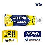 APURNA - GEL ENERGIE -2h d'effort- CITRON - Energisant - Made in France - 5x35g