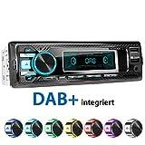 راديو السيارة XOMAX XM-RD269 مع موالف DAB + مدمج ، FM RDS ، وحدة حر اليدين Bluetooth ، USB ، SD ، MP3 ، AUX-IN ، بما في ذلك هوائي DAB + ، 1 DIN