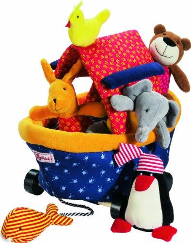 sigikid-49533-jouet-premier-age-jeu-daction-bateau-avec-animaux