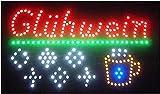 LED SCHILD LEUCHTSCHILD XXL REKLAME LEUCHTREKLAME WERBUNG DISPLAY SIGNS Glühwein Bunt