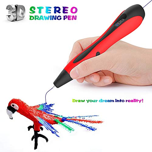 AMZ BCS 3D Pen Starter Kit Rapid Prototyping Drucker Drucken Doodler Zeichnung Kostenlose 18 Farben Minen PLA Gedrucktes Material Kunsthandwerk Hobbyisten Kinder Geburtstag DIY Geschenk