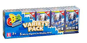 Character Building Doctor Who Micro-Figures in Display Brix Variety (Pack of 5)