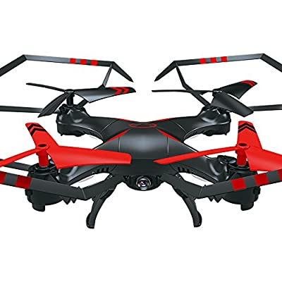 TUDUZ A25c 6-Axis Gyro RC 2.0MP HD Camera Quadcopter RTF Flying Toys Helicopter, Quadcopter Drone with Wide-Angle Lens HD Camera and Gravity Induction with Altitude Hold, Headless Mode and Custom Flight Route for Beginner or Kids