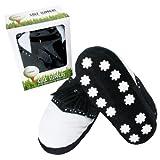 Links Choice Neuheit Golf Hausschuhe Large, White, black, 23x13x31 cm