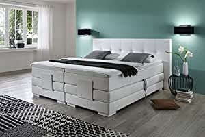 cambridge inkl motor boxspringbett hotelbett amerikanisches bett designbett 200x200 wei. Black Bedroom Furniture Sets. Home Design Ideas